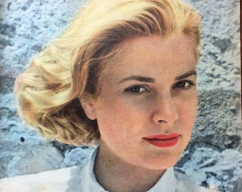 Rare Paris Match 1954 edition of Grace Kelly