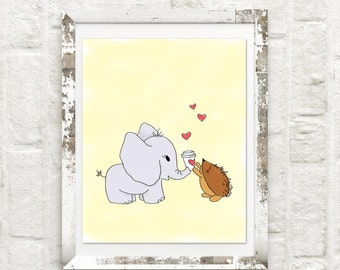 Spread Love  Lulu the Elephant Print