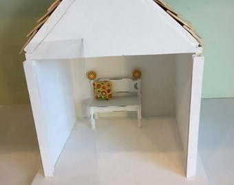 One Room ROOM BOX/DIORAMA/Handmade/Ready to be Filled and Decorated 1/12th Scale