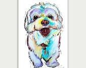 Colorful Art, Custom Dog Paintings, Pet Portraits, Acrylic On canvas, Wall Decor, Home Decor