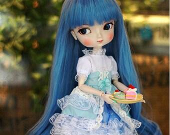 Blue Hair Beautiful Girl Doll