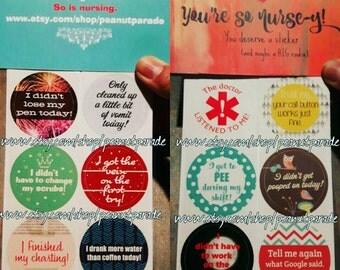 You're So Nurse-y! Nursing Reward Stickers Healthcare Adulting Stickers Peanut Parade