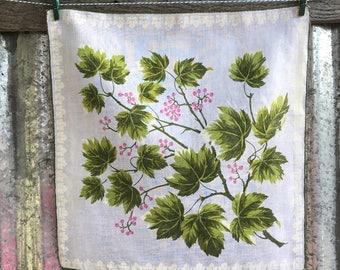 Vintage Floral Handkerchief 1535
