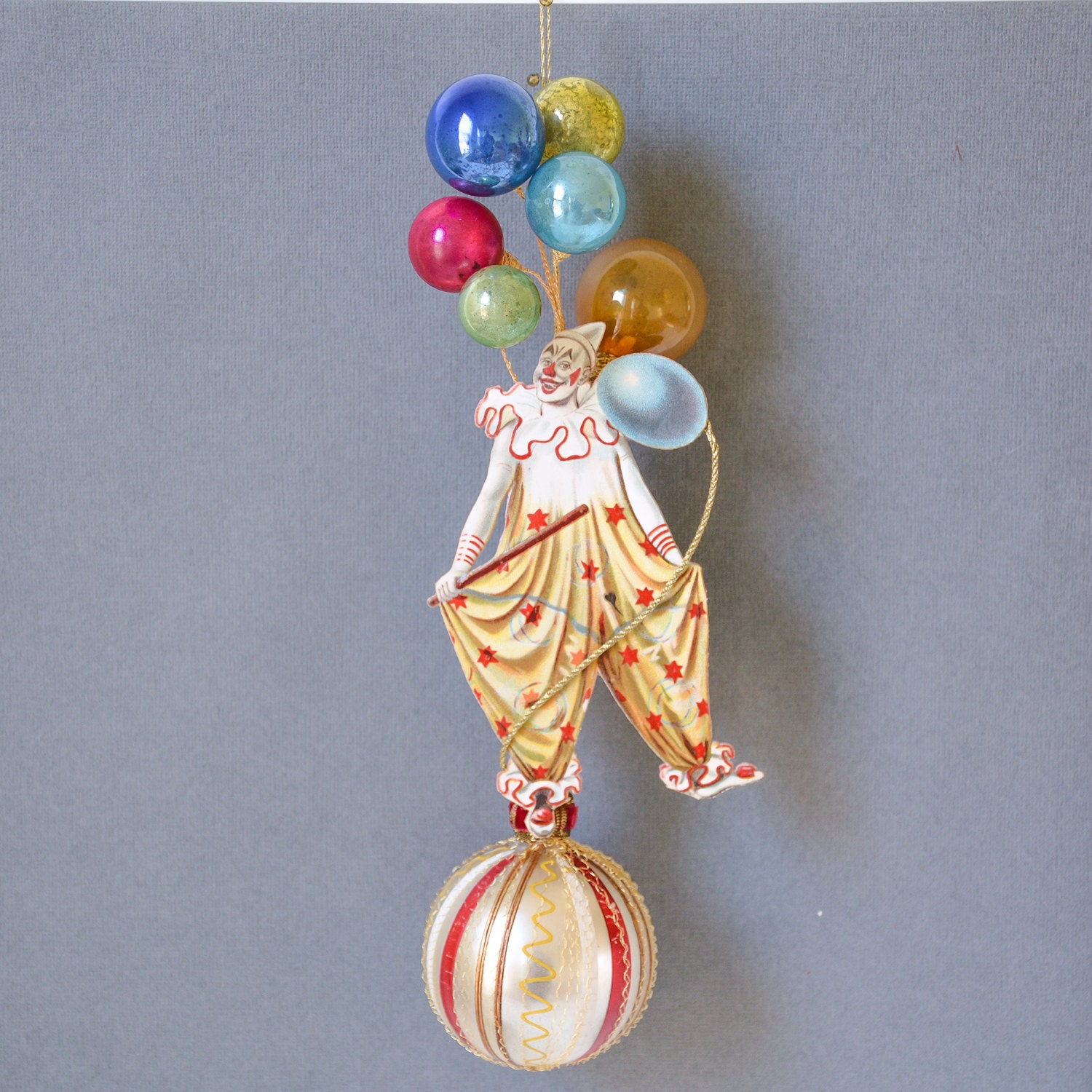 Victorian Father Christmas Decorations: Victorian Christmas Ornaments Clown Ornament Victorian