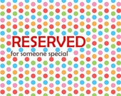 RESERVED - gold shield