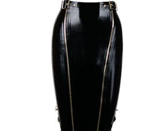 Gold Rush Latex Skirt