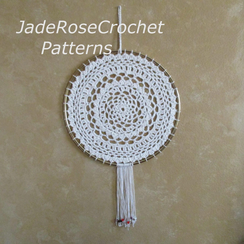 Mandala wall art crochet pattern dream catcher crochet mandala this is a digital file amipublicfo Images