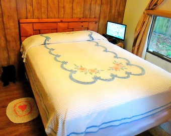 Twin/Full Chenille Bedspread 80x110