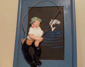 Fishing/ Mens Funny Gift/ Vintage Fisherman