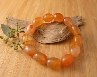 Carnelian Bracelet chunky