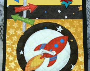 Space Age Birthday Card  20170148