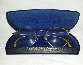 Edwardian era Bifocals Gold Filled with Case