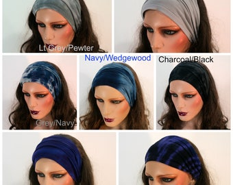 Gypsy hair bands in bamboo blend fabric.