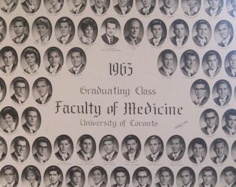 Vintage 1963 University of Toronto Medical School Graduation Photograph