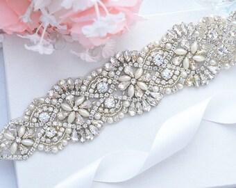 BIG SALE  weddWedding Belt, Bridal Belt, Sash Belt, Crystal Rhinestones & Pearls