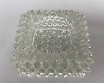 Cutglass Spike Ashtray Small Glass, Vintage Glassware, Salt Dish, Ashtray, Crystal, Vintage Decor, Glass Ashtray, Vintage Living Room
