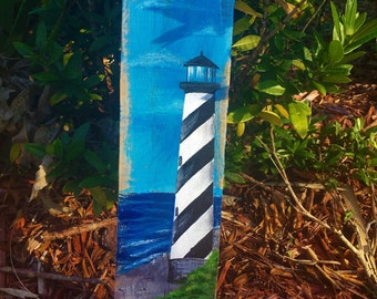 Lighthouse, Lighthouse Pallet Painting, Lighthouse Decor, Lighthouse Wall Art, Nautical Wall Art, Nautical Decor, Pallet Art, Beach Decor