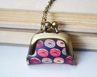 Doughnut Coin Purse Necklace