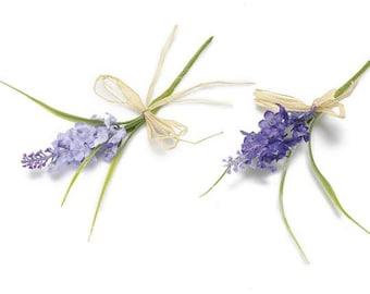 Lavender Artificial Flowers Bouquets 20 pcs