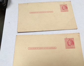 Vintage Post-Cards Plain Cards 2 cent postage