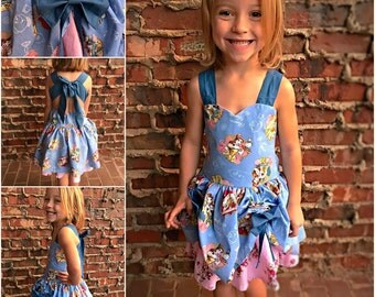 Girls Toddler Disney Princes Story Book Dresses Belle Beauty and the Beast Dress 12 18 24 2T 3T 4T 5T 6 8 10