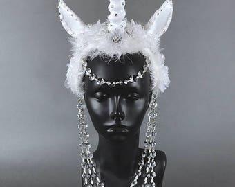 Unicorn Headdress Headpiece Crown