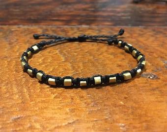 Matte Gold Square Bracelets