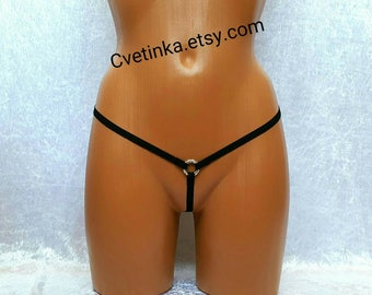 EXTREME MICRO BIKINI Thongs Gay Lingerie Sexy Lingerie Bridal Honeymoon Lingerie Strappy Panties Crotchless Bikini Open Crotch Lingerie