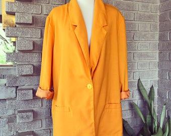 Vintage 1980's mustard blazer