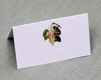 Place Cards with Grapes,Vineyard party, set of 12