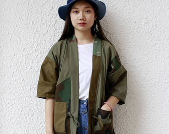 Camo Patchwork Kimono