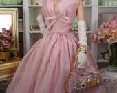 Whispers of Pink for Silkstone Barbie and Victoire Roux OOAK Fashion for 12 inch dolls.