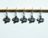 Sheep stitchmarkers, progresskeepers set of 5 by Star Fiber Studio