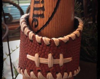 Football cuff bracelet, football jewelry , football bracelet