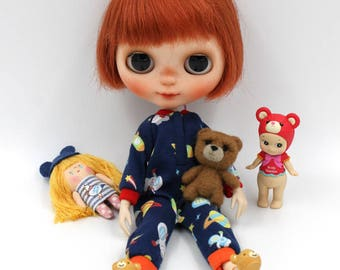 Girlish - Spaceman Pajamas for Blythe doll - dress / outfit