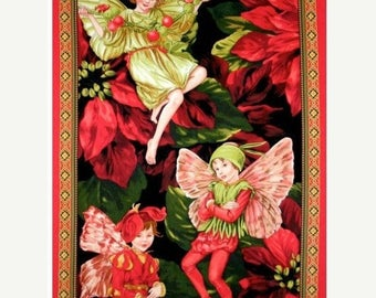 15% off thru 2/28 fabric panel CHRISTMAS TREE FAIRY from Michael Miller