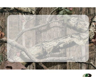 """50 """"Camo"""" Camouflage Mossy Oak Florist Blank Enclosure Cards Small Tags Crafts (Free Shipping!)"""