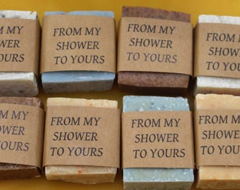 50 Mini soap Wedding favors Cold Process soap made with our honey and beeswax baby shower special occasion