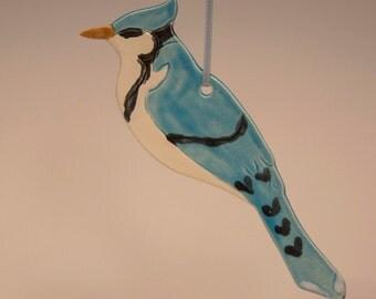 Ceramic Blue Jay Ornament...