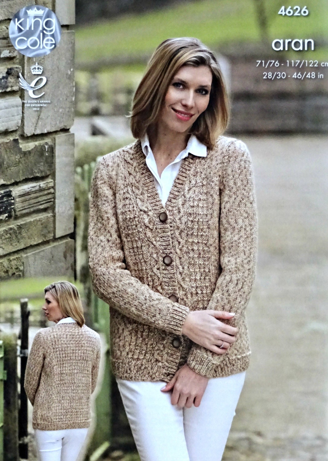 Womens knitting pattern k4626 ladiesmens long sleeve v neck cable womens knitting pattern k4626 ladiesmens long sleeve v neck cable cardigan knitting pattern aran worsted king cole bankloansurffo Image collections