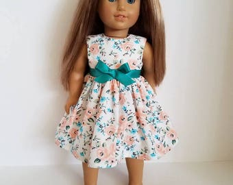 18 Inch Doll-American Girl Dress: Pretty Roses