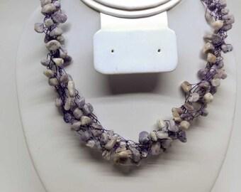 Purple Gemstone Necklace - Charoite