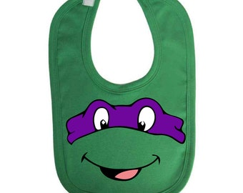 Ninja Turtles Inspired Baby Bib