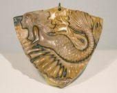 CRAZY SUMMER SALE! 50% Off orders 150 or more. Use code HALFOFF150 - Master Carved Jasper Mermaid Pendant Bead