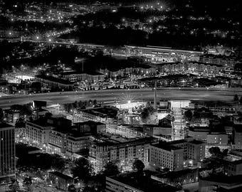 Atlanta  - Fine Art Print - Skyline - Cityscape - Black and White