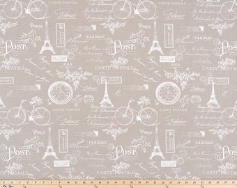Ecru Beige and White Paris Curtains  Rod Pocket  63 72 84 90 96 108 or 120 Long by 24 or 50 Wide
