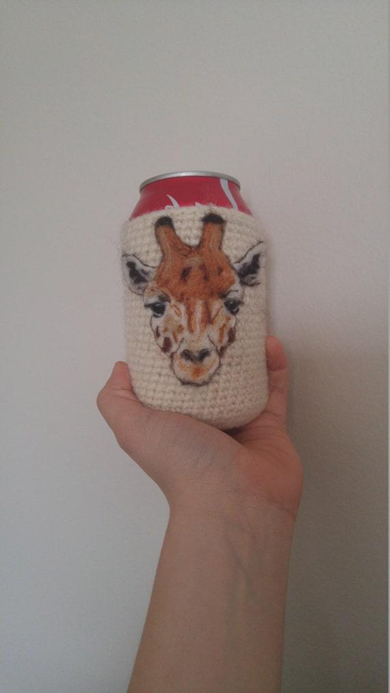 Giraffe can cozy Needle felted