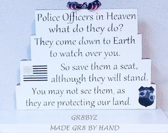 Law Enforcement in Heaven tabletop display, Police, Sheriff, Deputy, Trooper by gr8byz