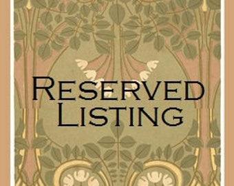 Reserved Listing for Janelle