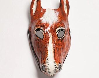 masquerade horse paper mask